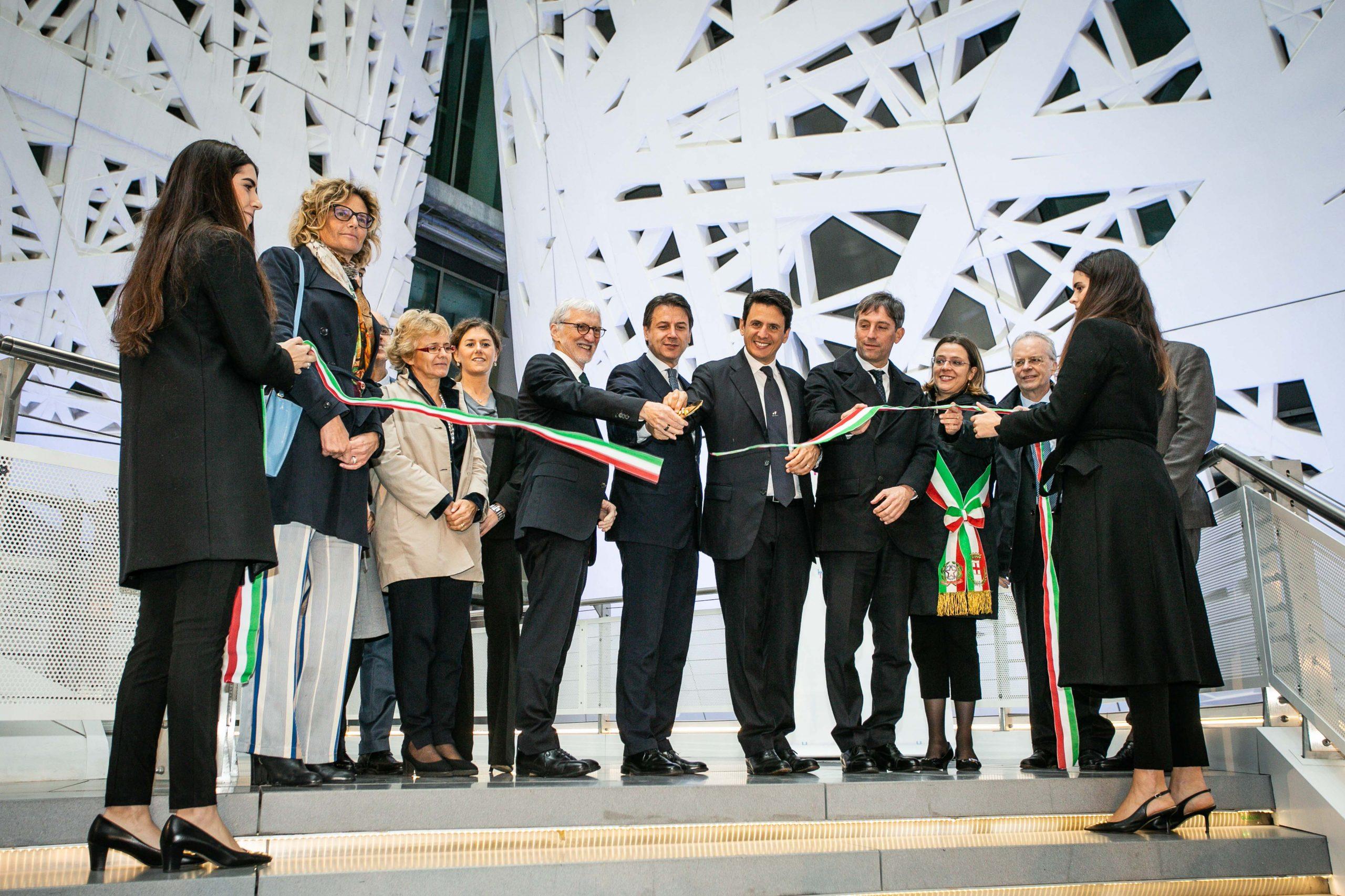 Cerimonia di apertura della sede di Human Technopole con premier Giuseppe Conte