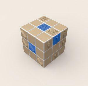 The pharmacogenomics cube Credit: graphic concept by Francesco Iorio, illustration by Spencer Phillips, EMBL - EBI 2016 Il cubo farmacogenomico Credito: concept grafico Francesco Iorio, illustrazione Spencer Phillips, EMBL-EBI 2016