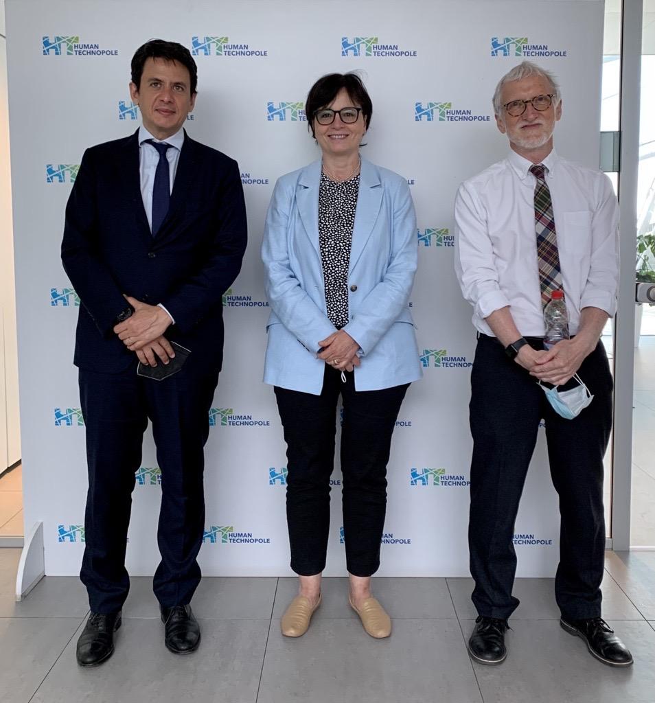 Presidente CNR Maria Chiara Carrozza visita HT