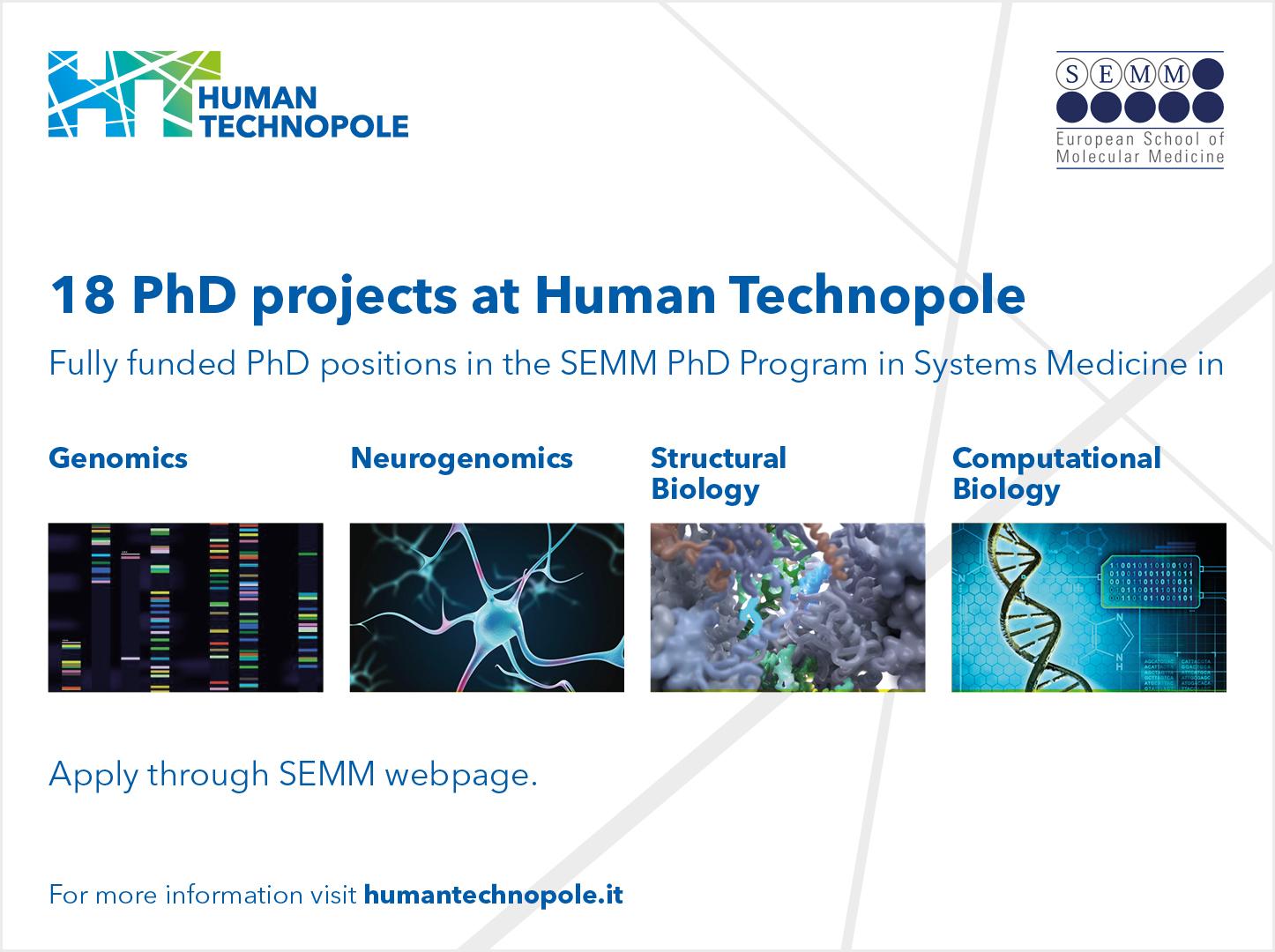 18 opportunità PhD ad HT tramite SEMM